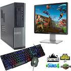 Gaming Dell Hp Computer Bundle Windows 10 Quad Thread I3 8gb 500gb Gt710 2gb