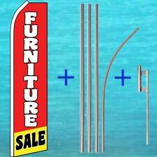 Furniture Sale Super Flag + Pole Mount Kit Flutter Feather Swooper Banner Sign