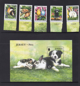 Jersey Pets Issue 2003 Stamps and Miniature Sheet
