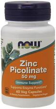 NOW Foods Zinc Picolinate 50 mg - 60 Veg Capsules