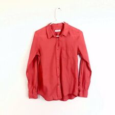 Equipment Femme Red Coral Cotton Button Down Shirt Size Small