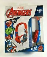 MARVEL AVENGERS Kid Safe Headphones Volume Limiting Technology Age 6+ Brand New