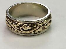 Mens Vintage Wed-Lok  14k Yellow & White  Gold Wedding Ring Band Size 9