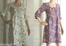 White Stuff Floral Tunic Top /Mini Dress 8 10 12 14 16 18 Mauve Purple or White