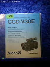 Sony Bedienungsanleitung CCD V30E Video8 Camera Recorder  (#0332)