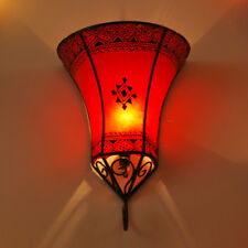 Oriental Lampe Murale Marocaine Applique Murale Lampe Henné Cuir Nakos Rouge