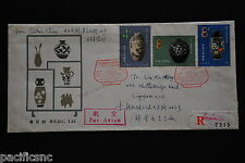 China PRC T62 Ceramics Set on 2 B-FDCs - Registered to Singapore