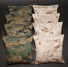 All Weather USMC Camo US Marine Corps Military Camouflage Resin Cornhole Bags