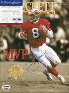 Steve Young 49ers 1995 Beckett Magazine Signed PSA/DNA COA