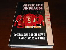 "Gordie Howe & Colleen Howe Signed ""After The Applause"" Autograph Book RARE"