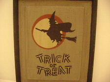 Halloween Witch Plaque Very Nice