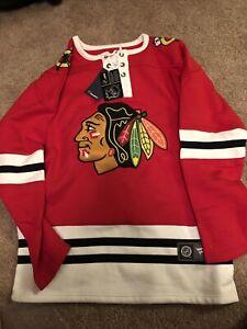 Chicago Blackhawks Fanatics Brand Men's Breakaway Laced-up Sweatshirt Size L NWT