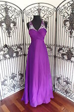 G834 CLARISSE 2384  PURPLE 3-4  FORMAL PAGEANT  PROM GOWN DRESS