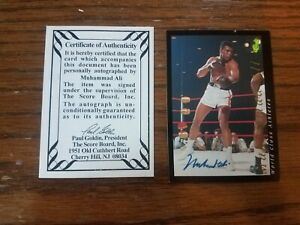 1992 Classic Muhammad Ali Auto boxing card with COA