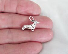 Sterling Silver 3d Dachshund charm