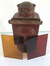 ANTIQUE KODAK No. 2 KEROSENE DARKROOM LAMP ORIGINAL BOX 2 LENS