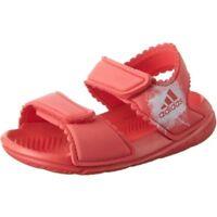 adidas Altaswim G I Pink WHT Slide Sandal Hook & Loop Girl Toddler Size 4-9 New