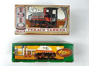"NIB Set of 2 Texaco Coin Banks 1994 ""Doodle Bug"" and 1995 ""1910 Mack"" ERTL"