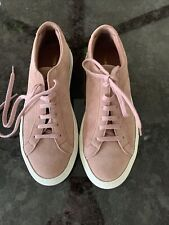 auth COMMON PROJECTS dusty pink suede ACHILLES Sneakers Shoes 38