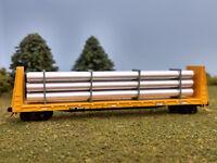 Train Time N Scale Custom Pipe Load for Micro Trains Bulkhead Car