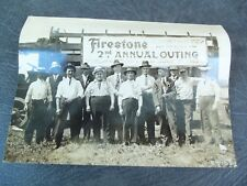Photograph 1917 Firestone Company!  2nd Annual Construction Men Outing!