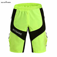 New Mens Cycling Shorts MTB Bike Baggy Short Pants Pads Loose Fit Bike Shorts