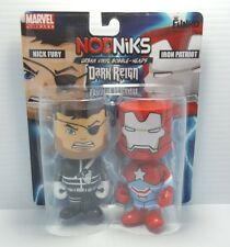 Funko Nick Fury Iron Patriot Marvel Nodniks Pop Bobble Heads collectibles NEW
