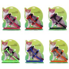 Cat Kitten Adjustable Harness Collar Durable Animal Walking Lead Pet Rabbit Dog