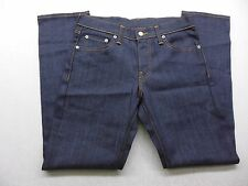 New Levi's Mens 511 0007 Dark Blue Skinny Slim Fit Rigid Denim Jeans Sz 32 X 32