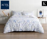 Actil Bellara King Bed Standard Quilt Cover Set Sky