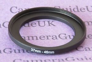 37mm to 46mm Male-Female Stepping Step Up Filter Ring Adapter 37mm-46mm