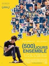 500 DAYS OF SUMMER Movie Promo POSTER French Zooey Deschanel Joseph Gordon-Levit
