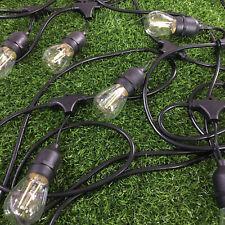 20m hanging sockets outdoor patio Pergola festoon string light with 24 led bulbs