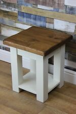 Handmade Handpainted Pointing (white )  Rustic Wooden Lamp Tables Farmhouse