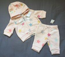 Baby Girl 0-3 Month Baby Gap Pink Star Print Arch Logo Zip Up Hoodie & Pants