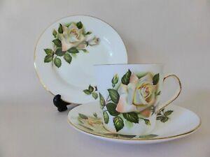 Vintage Elizabethan Bone China Tea Trio, Roses Tea Cup, Plate and Saucer Set