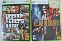 Grand Theft Auto IV + L.A. Noire (Microsoft Xbox 360) Rockstar Games Lot