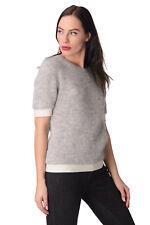MONCLER Jumper Size S Mohair & Wool Blend Thin Short Sleeve Crew Neck RRP €295