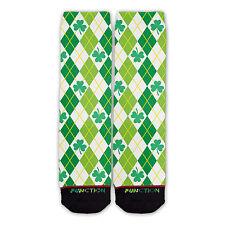 Function - St. Patricks Day Shamrock Argyle Fashion Socks novelty socks sublimat