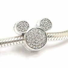Authentic Pandora Disney Park Exclusive Sparkling Mickey Ears Clip Charm Bead