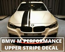 BMW M PERFORMANCE BLACK UPPER DECAL STRIPE BUMPER BONNET ROOF & TAILGAGE F30 M3