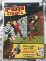 More Fun Comics 82 DC Comics 1942 Golden Age Green Arrow Speedy