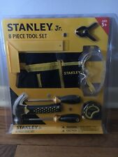 Stanley Jr. 8 Piece Real Tool Set for Kids Smaller Sz Tape Hammer Screwdrivers +