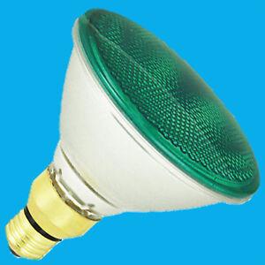 3x 80W PAR38 Green Coloured Halogen Flood Reflector ES E27 Light Bulb Lamp