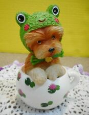 Feeling Hoppy Frog Cups of Affection Collection Yorkie in Tea Cup Kayomi Harai