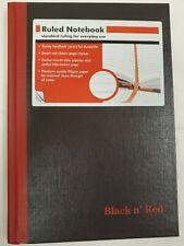"""BLACK N' RED JDKE66857 8-1/4"""" x 5-7/8"""" Black Casebound Notebook"""