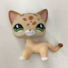 Littlest Pet Shop Kitten LPS #852 Yellow Spotted Cat Kitty Hasbro Collection Toy