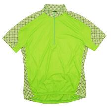 Monogram Cycling Jersey Womens Medium M Short Sleeve Green by Canari -Runs Small