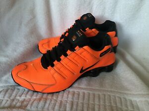 MENS RARE NIKE SHOX BRIGHT ORANGE BLACK SIZE 10 US 44 EUR VERY GOOD CONDITION