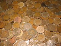 100 FARTHINGS BULK LOT OF OLD ENGLISH COINS 1900-1956